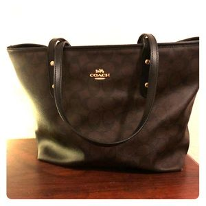Coach Purse Black and Brown Logo